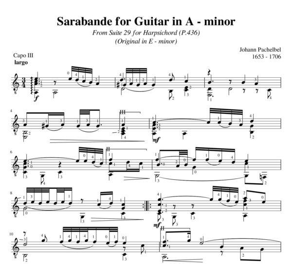 Pachelbel Sarabande Suite 29 A minor