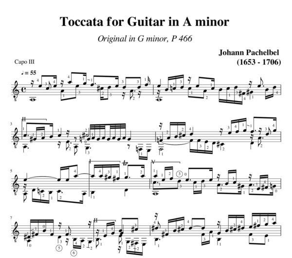 Pachelbel Toccata a minor P 466