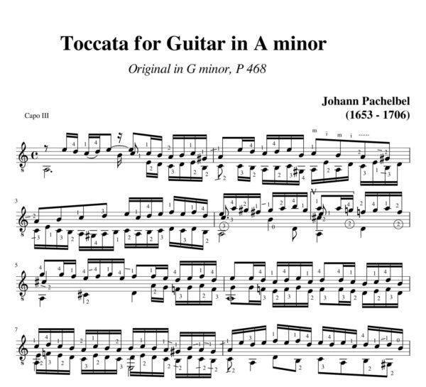 Pachelbel Toccata a minor P 468