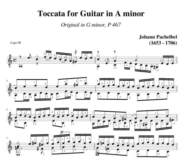 Pachelbel Toccata a minor P. 467