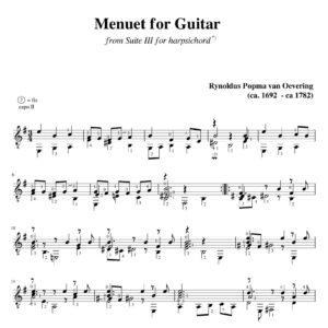 Popma Suite III Menuet